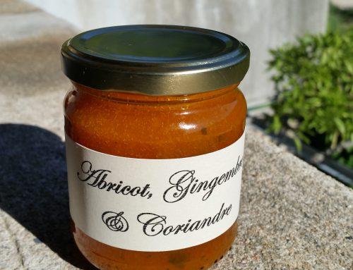 Confiture d'abricot, gingembre et coriandre