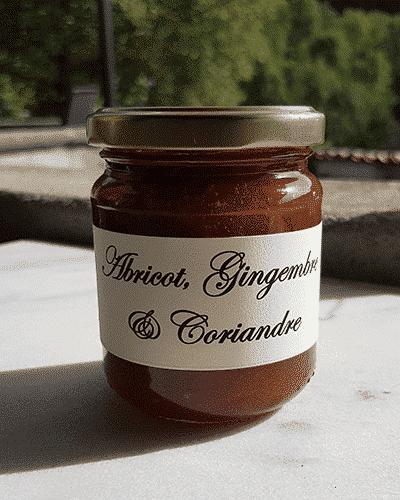 Abricot, gingembre et coriandre